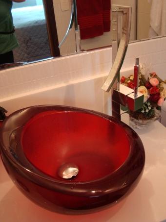 Cuba resina vermelha e base de Marmoglass